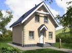Проект одноэтажного дома с мансардой и террасой